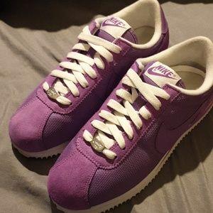 Womens Purple classic Nike Cortez (suede & nylon)